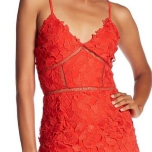 Love...Ady Orange Chemical Lace Slip